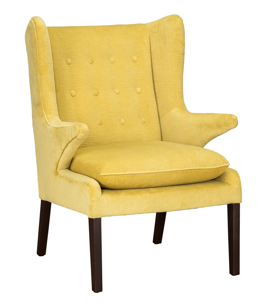 Ochre Wingback Chair 27W x 33D x 39H
