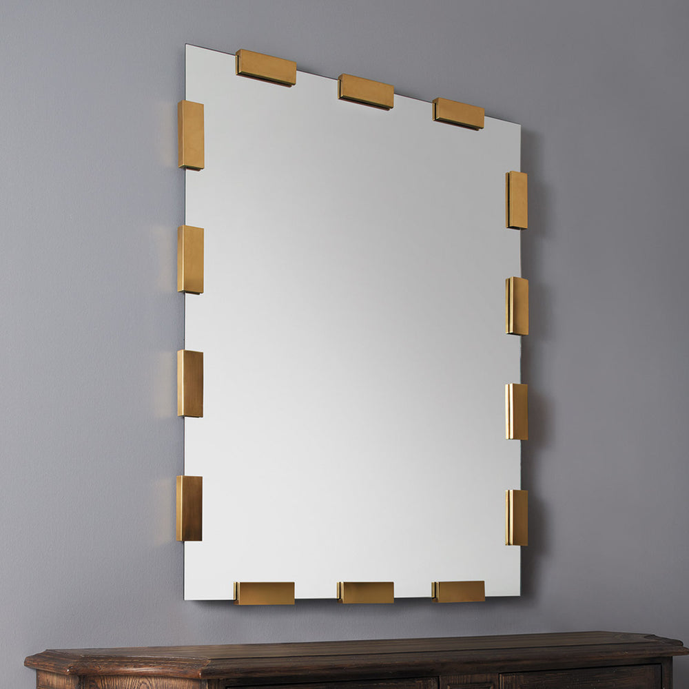 Rectangular Applique Mirror 41x52