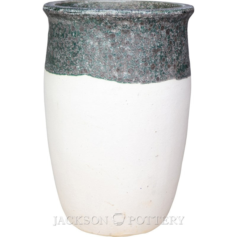 20 in. Tarsus Jar Tall Shoreline/White