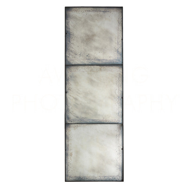Three Panel Large Antiqued Mirror 90x30