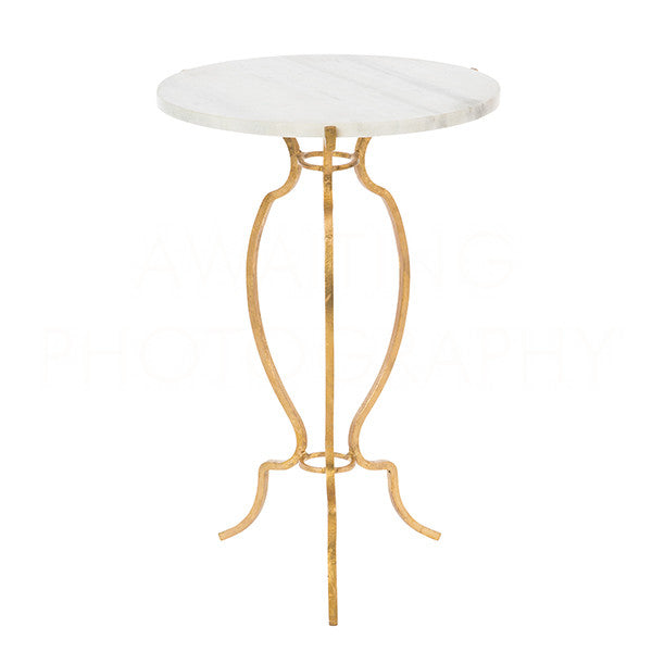 Gold Garden Table 20x14x14