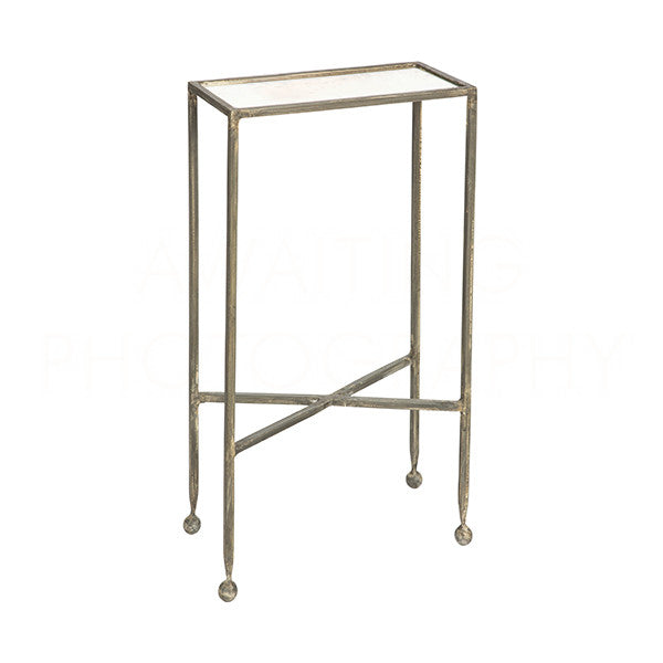 Chino Side Table Burnt Zinc 24x14x7