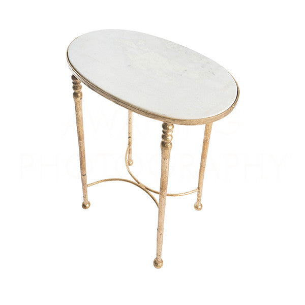 Sangallo Marble Side Table 25hx13x22.5
