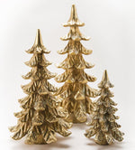 Set of 3 Gold Fir Tabletop Trees