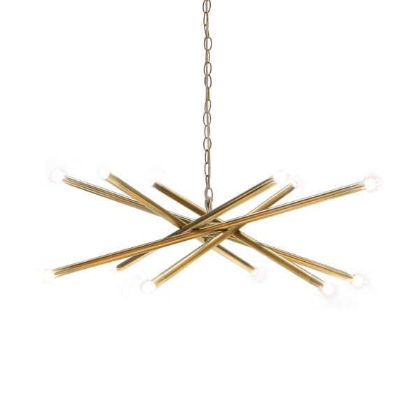 Twelve Light Chandelier Brass 32.5dia16.75h