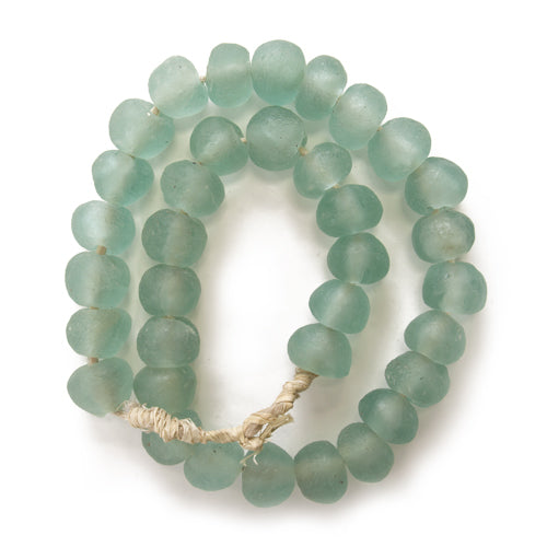 MED Sea Glass Beads Glacier