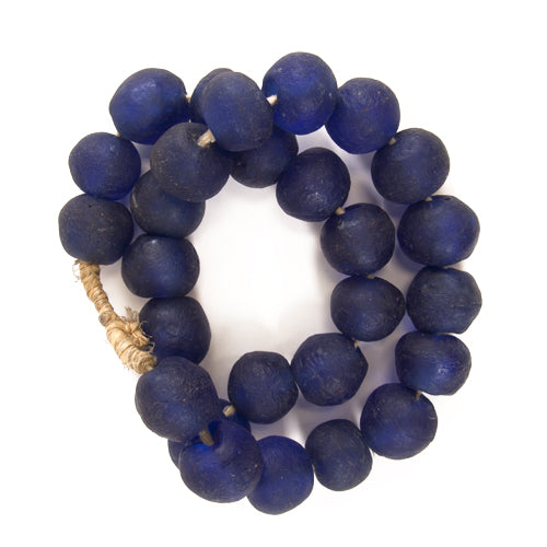 LG Sea Glass Beads Cobalt