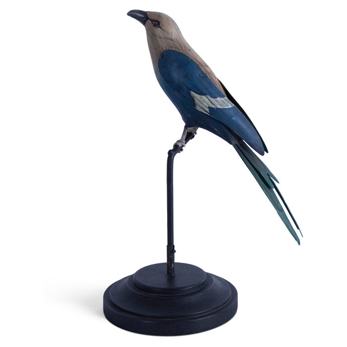 Blue-Bellied Roller Carved Bird