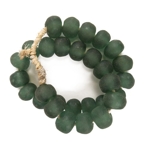 LG Sea Glass Beads Emerald