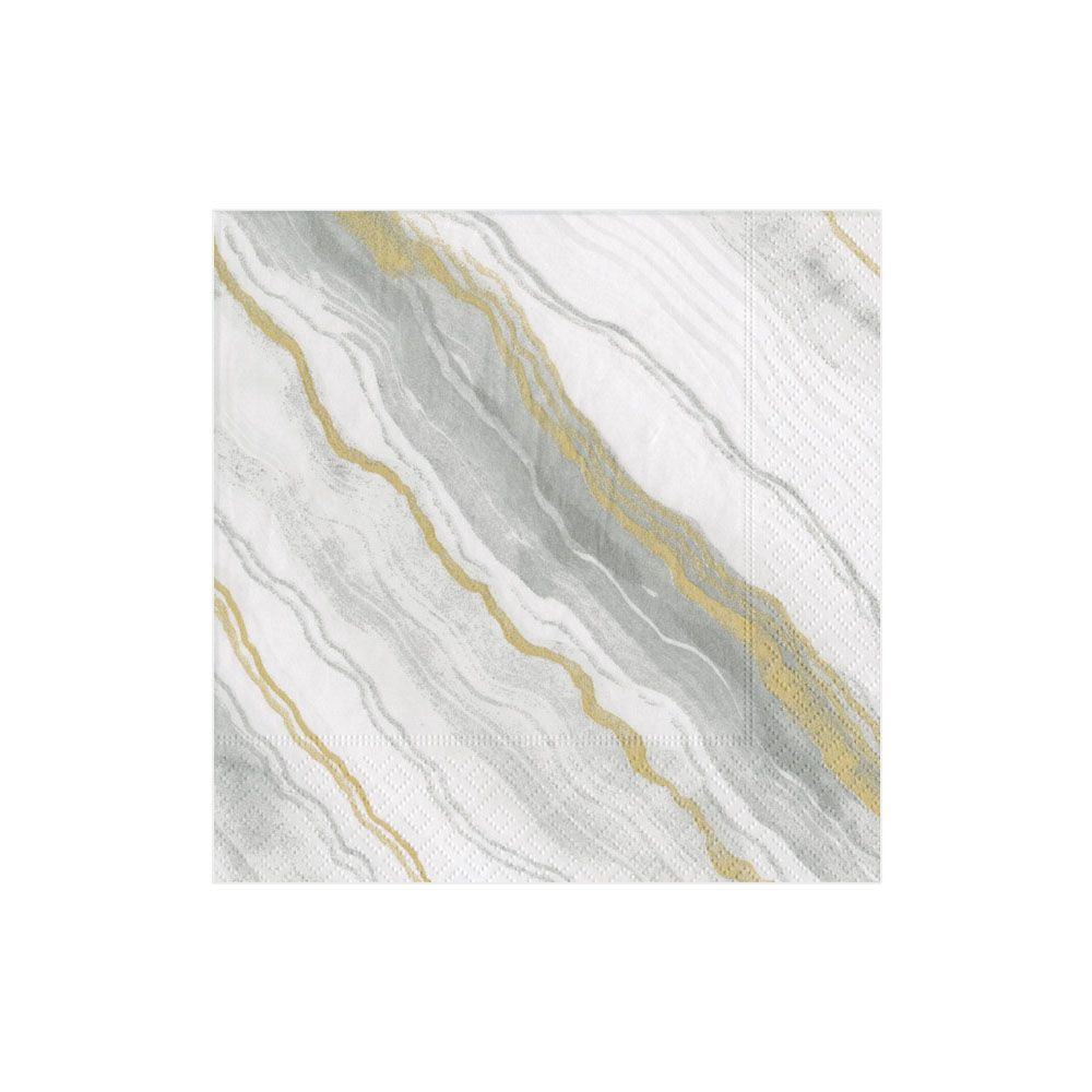 Marble Grey Cocktail Napkins