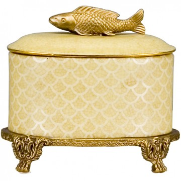 Box w/ Bronze Fish
