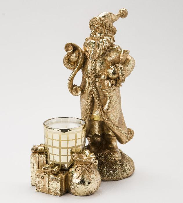 Gold Santa w/ Noel 6oz Candle