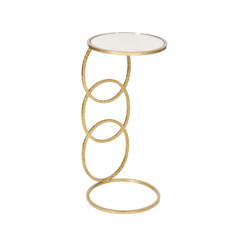 3 Ring Cigar Table Gold 12x12x26