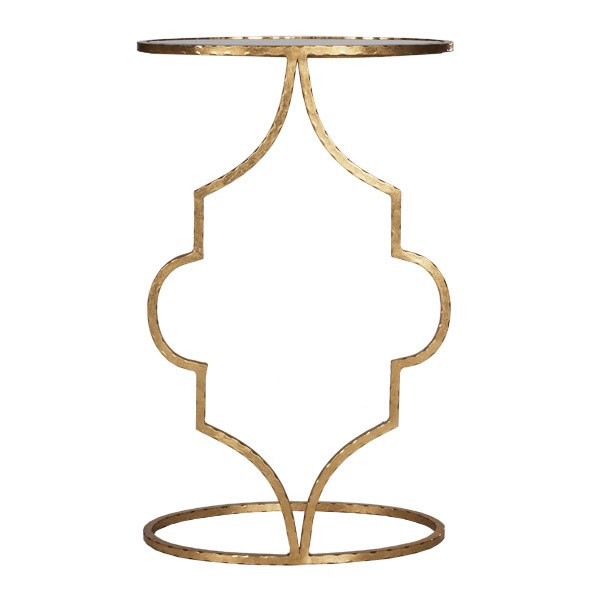 Oval Cigar Table Gold 10x16x26