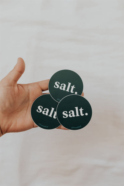 'Salt' Sticker