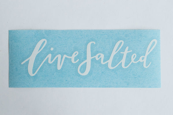 Horizontal Live Salted Sticker
