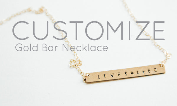 Customized Gold Bar Necklace
