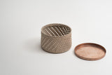 Rush Woven Basket with Lid