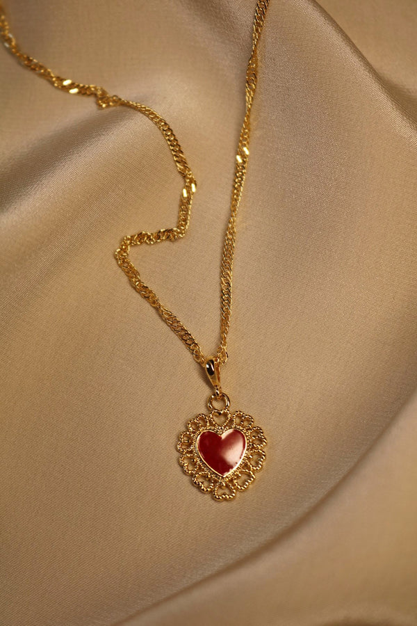 Red Queen Heart Necklace