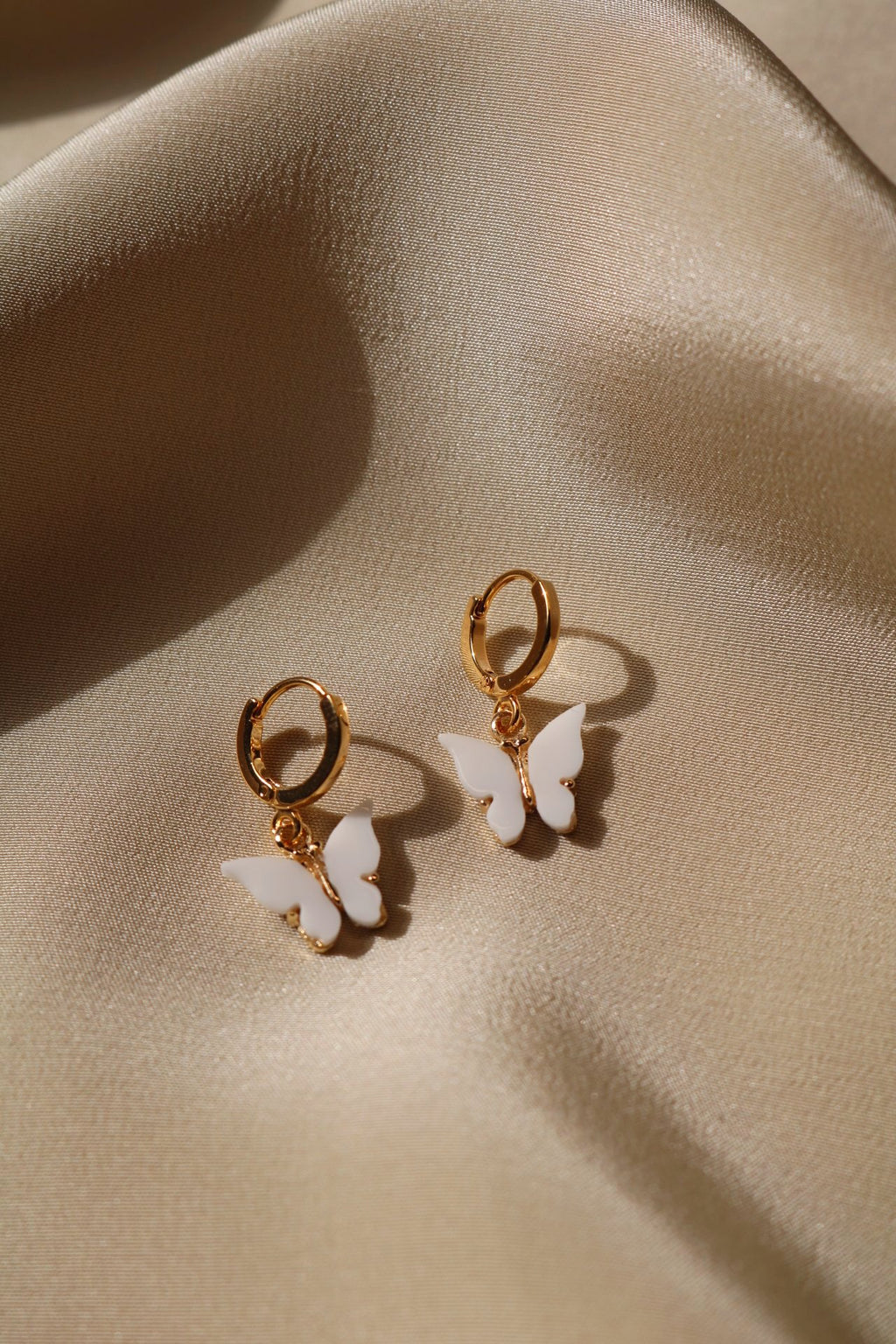 Snow Butterfly Earrings