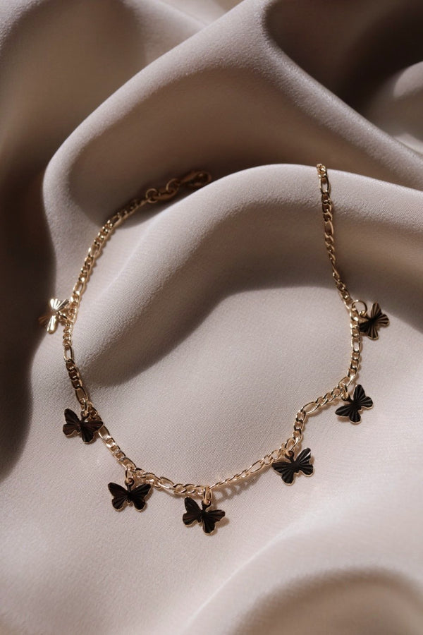 Beloved Butterfly Anklet - Gold Filled