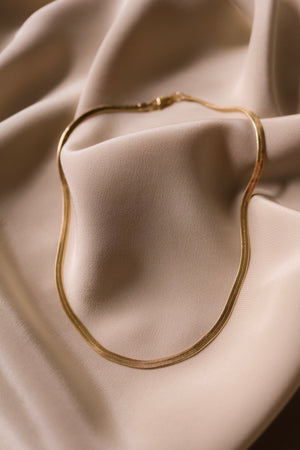 Chica Herringbone Necklace - Gold Filled