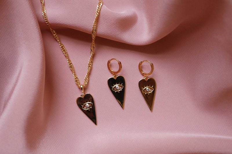 Eye Necklace and Earrings Set