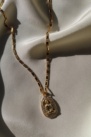 Gold Filled Necklace with Buddha Pendant