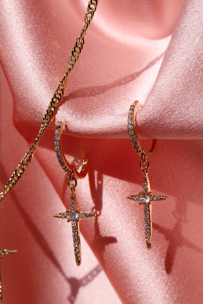 Cool Cross Dangle Earrings