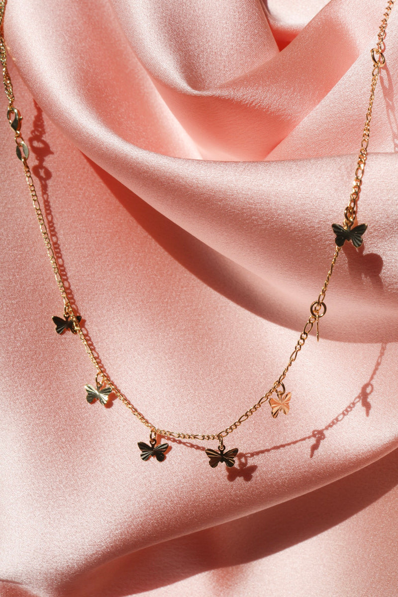 Beloved Butterfly Choker - Gold Filled