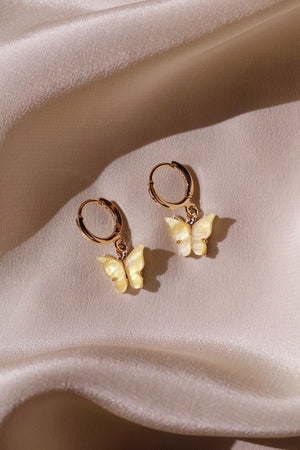 Sunshine Butterfly Huggie Earrings