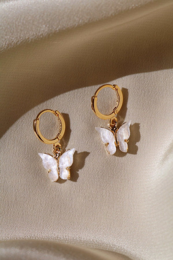 Pearly Butterfly Earrings