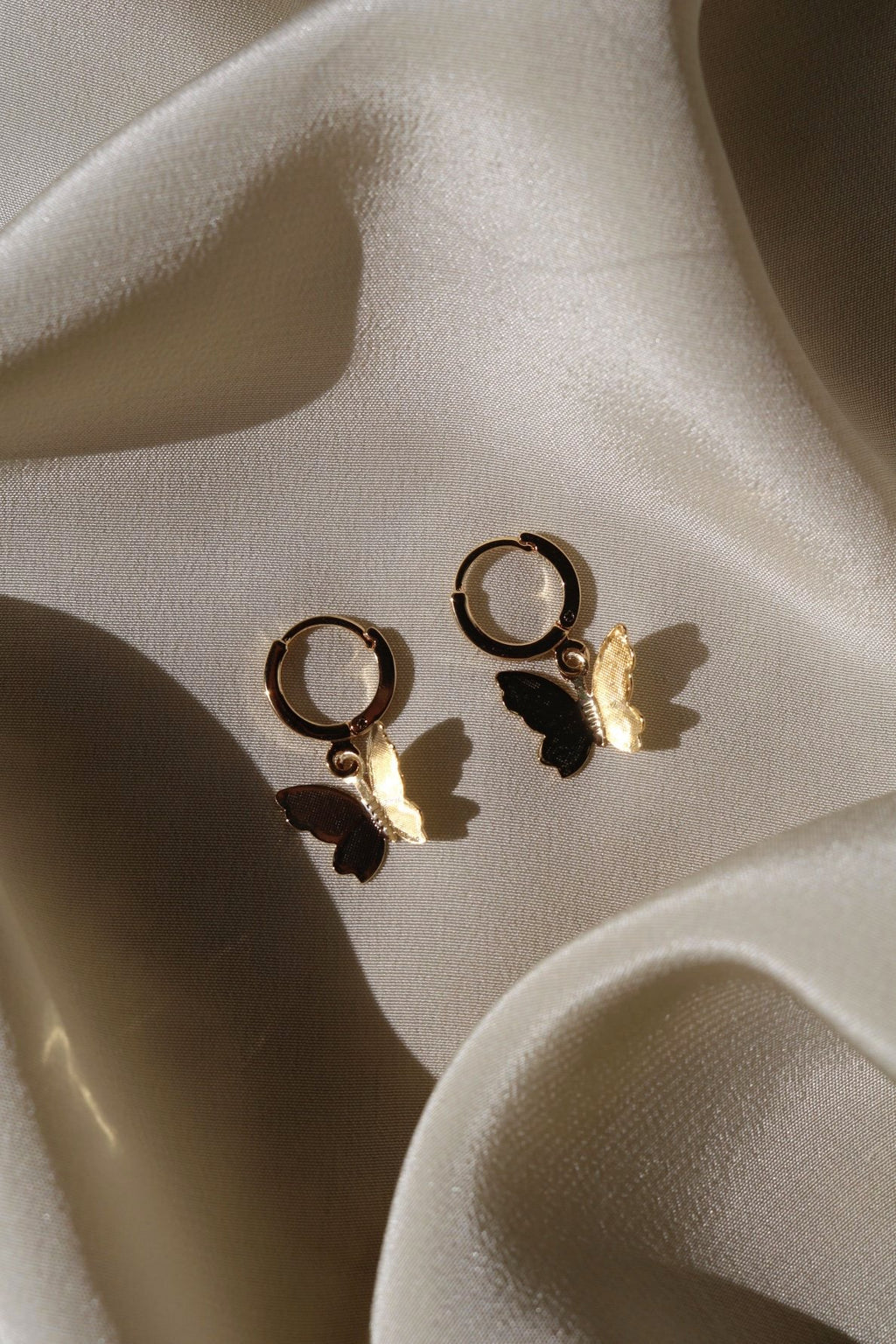 Gold Filled Butterfly Kisses Earrings