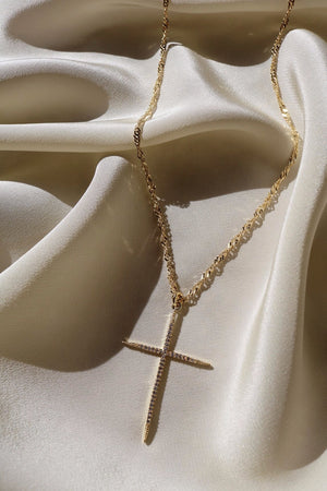 Your Blessing Cross Necklace - Gold Filled