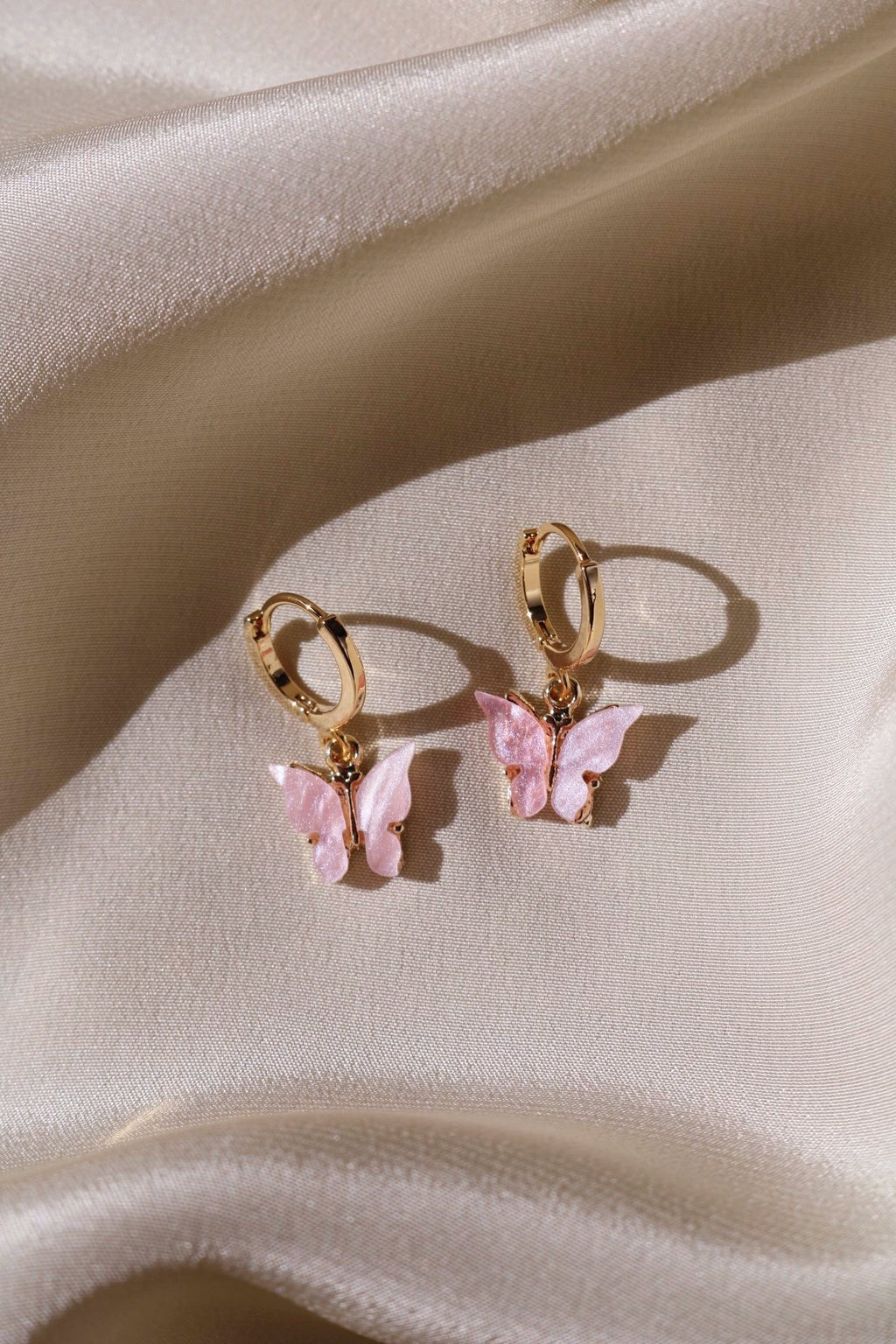Blush Butterfly Earrings