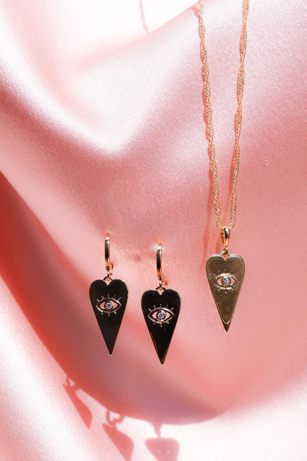 Good Fortune Eye Necklace and Earrings Set
