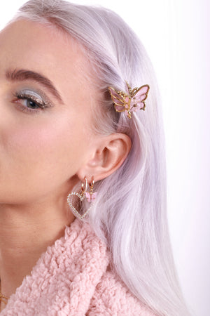 Blush Butterfly Earrings-Chvker Jewelry