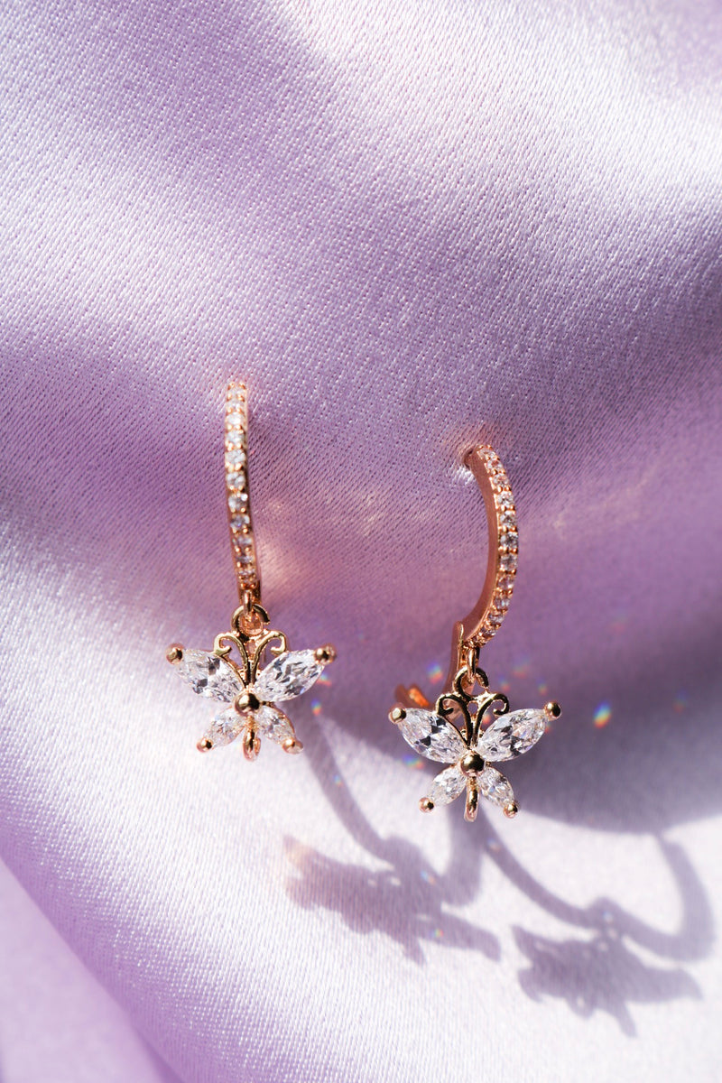 butterfly drops with cubic zirconia