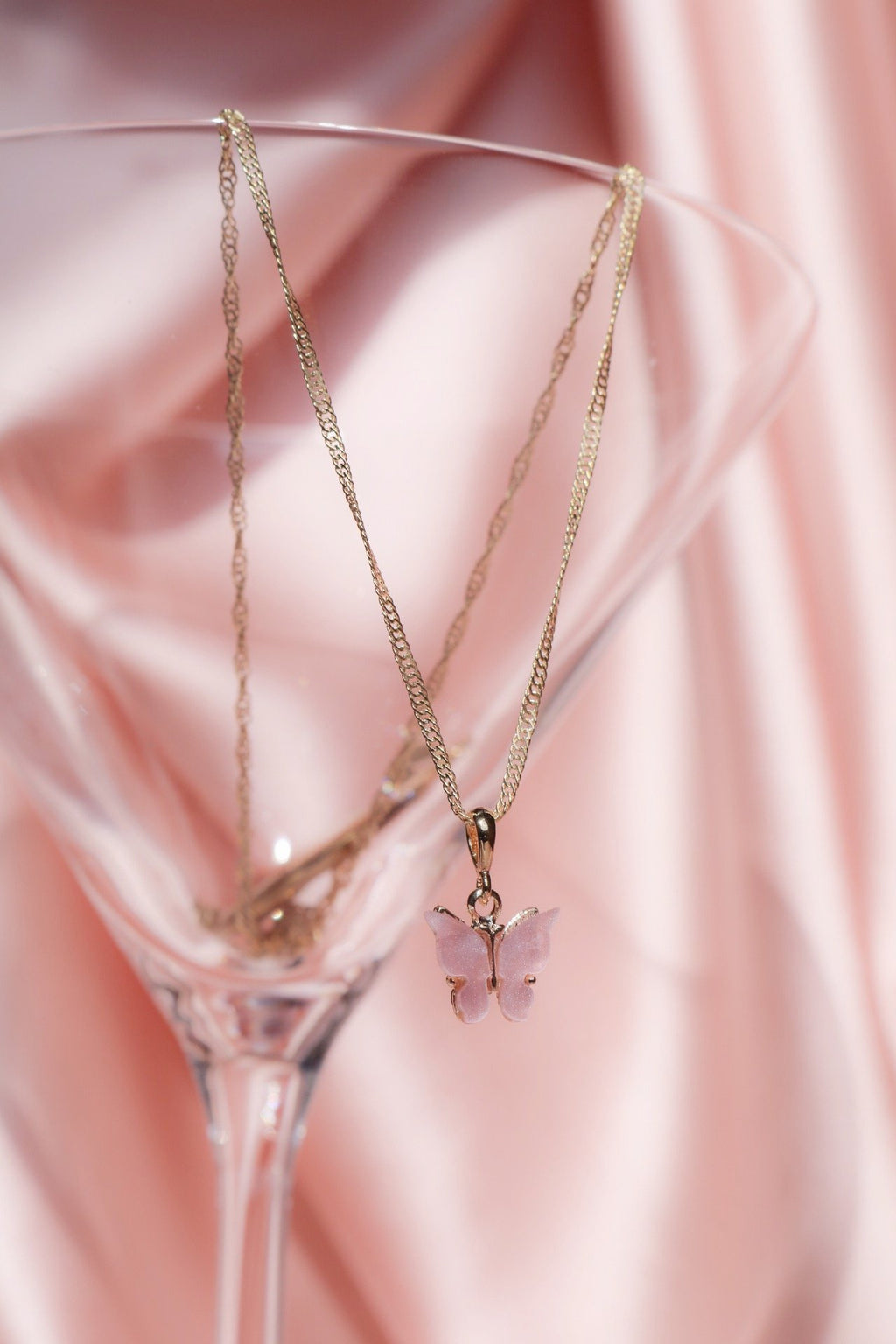 Blush Butterfly Necklace