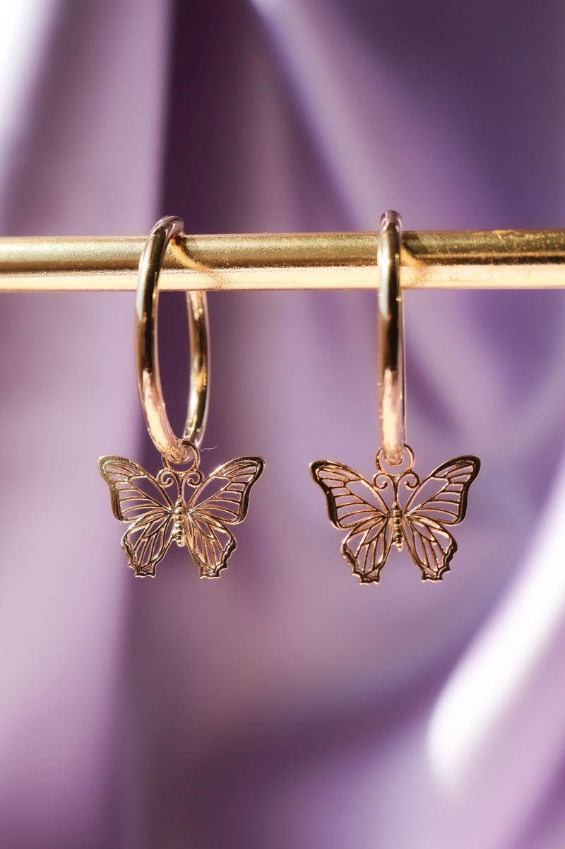 Fleur Cross Earrings