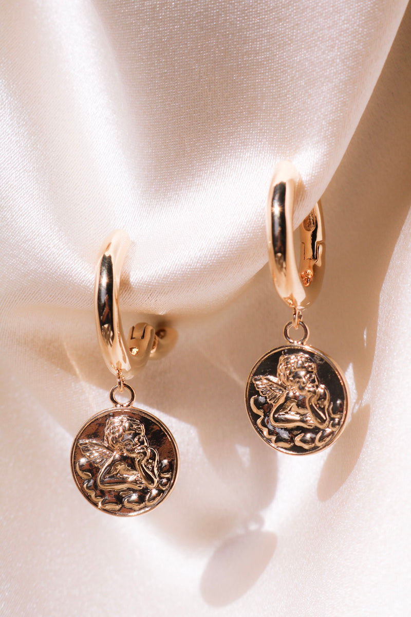 Angel Engraving Earrings Image