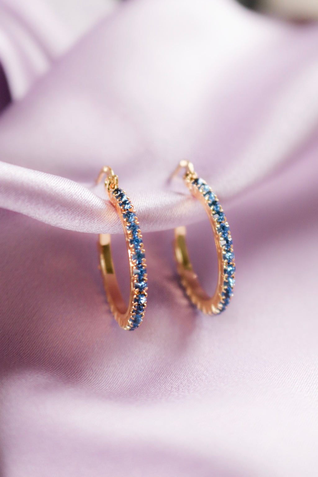 Azure Hoop Earrings