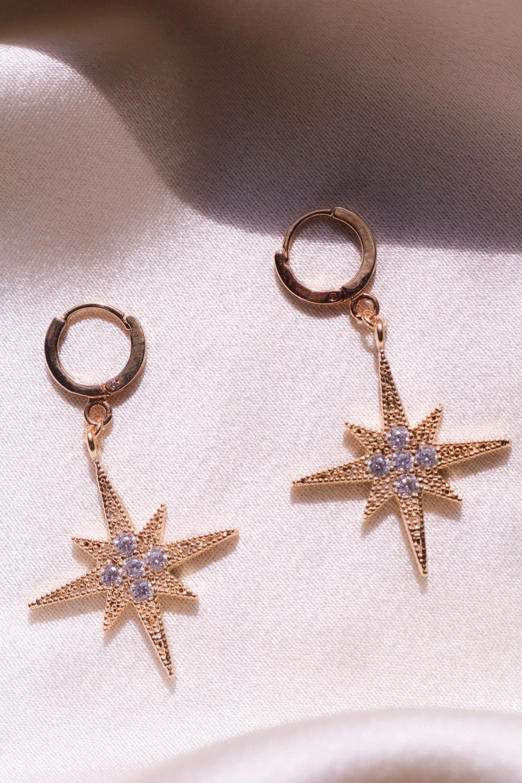 Star Earrings with Cubic Zirconia