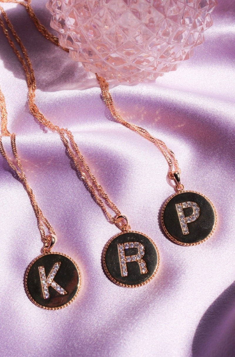 Party Favor Initial Necklace