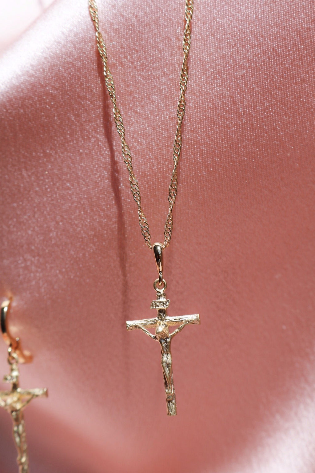 Gold Chain and Cross Pendant