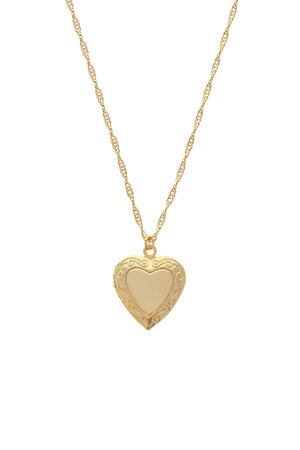 Adore You Heart Locket Necklace