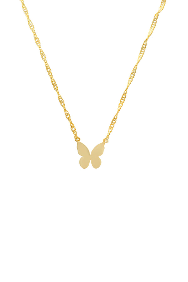 Alida Butterfly Vermeil Necklace-Chvker Jewelry