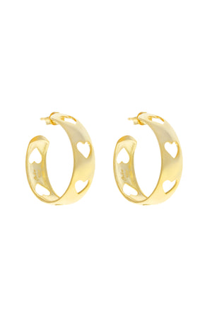 Amata Heart Vermeil Hoops