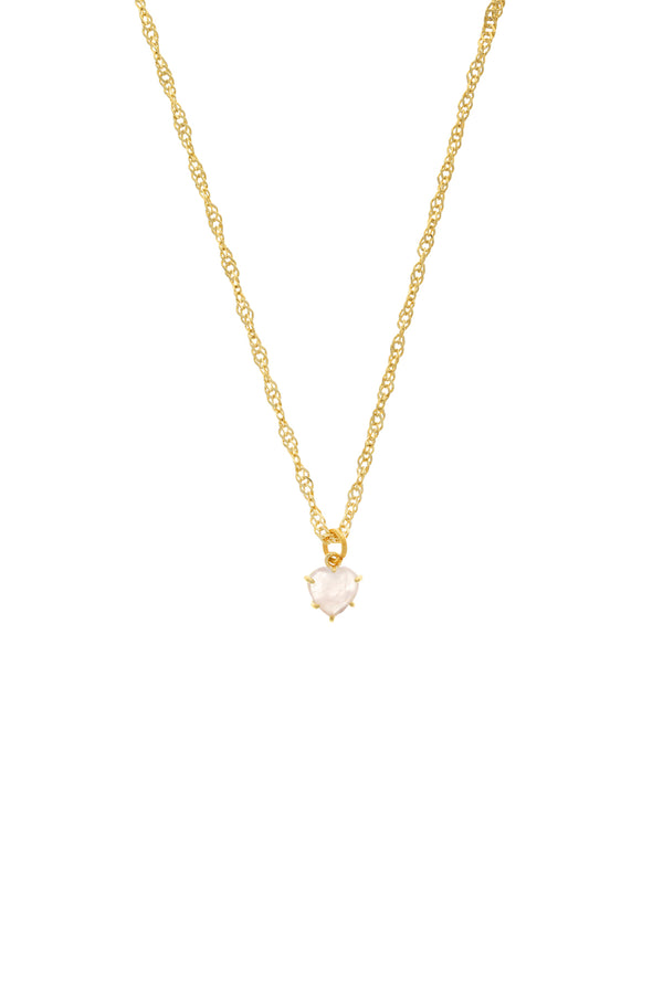 Baby Pink Gem Heart Necklace