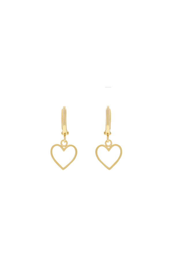 Be My Lover Heart Huggie Earrings